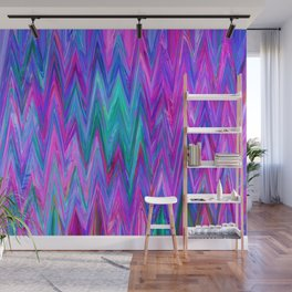 Holographic Mountains Wall Mural