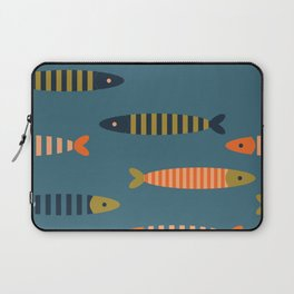 Striped fish - blue Laptop Sleeve