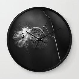 Milkweed Down Wall Clock