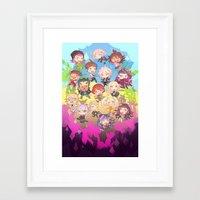 dangan ronpa Framed Art Prints featuring Dangan Island by CO27