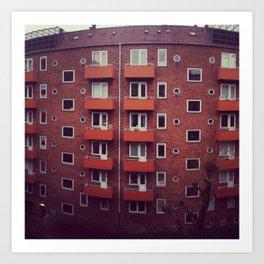Copenhagen Flats Color Art Print
