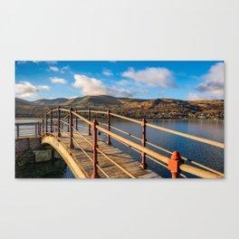 Padarn Lake Footbridge Canvas Print