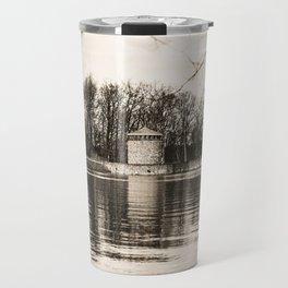 Möhne Reservoir Lake Tower sepia Travel Mug