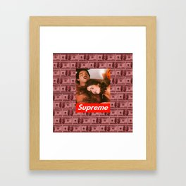 Supreme Ron Jeremy Blood Money Framed Art Print