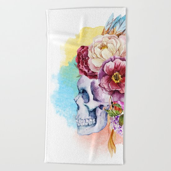 Skull 09 Beach Towel