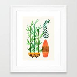 Bamboo + Fern / Botanical Illustration Framed Art Print