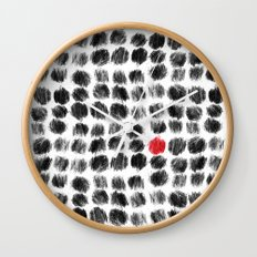 RED BALL Wall Clock