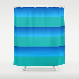 Stripes are in fashion today Shower Curtain