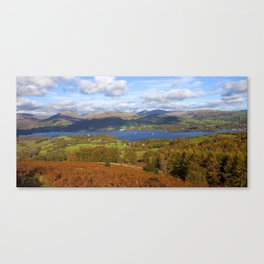 View of the lake Canvas Print