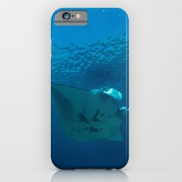 Victory lap (a manta's triumph) iPhone Case