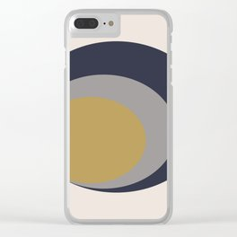 Inverted Circles Clear iPhone Case