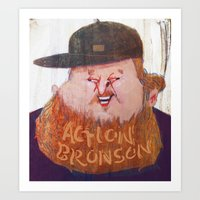 action bronson Art Prints featuring Action Bronson by Josephine Guan