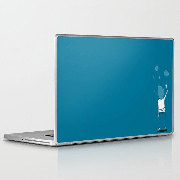 BUBBLES FIZZ ON MY MIND Laptop & iPad Skin