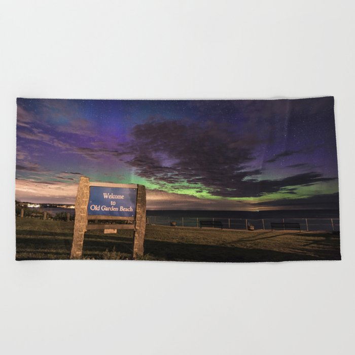 May Aurora at Old Garden Beach Beach Towel