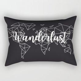 Wanderlust geometric world map Rectangular Pillow