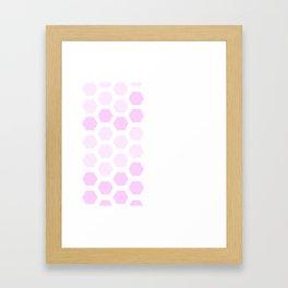 Pink Hex Framed Art Print