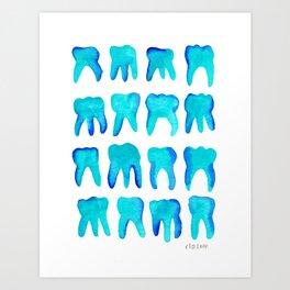 Turquoise Molars - Vertical Art Print