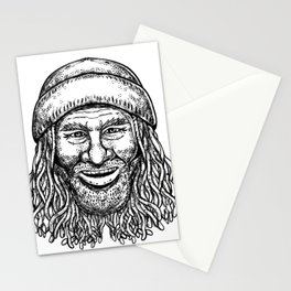 Rastafarian Dude Tattoo Grayscale Stationery Cards