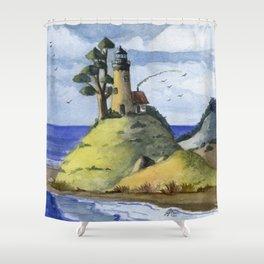 Peaceful Lighthouse IV Shower Curtain