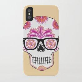 sugar skull #bonethug iPhone Case