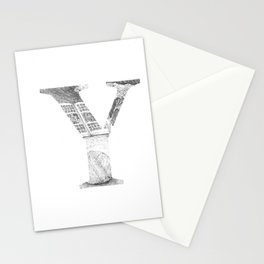 Letter Y Stationery Cards