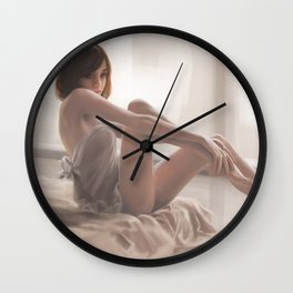A girl in the morning Wall Clock