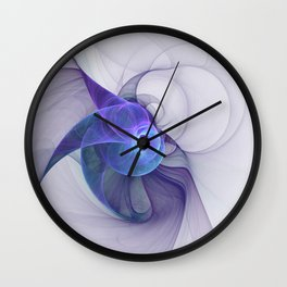 The Curious, Abstract Fractal Art Wall Clock