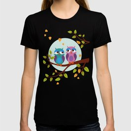 Sleepy owls in love T-shirt