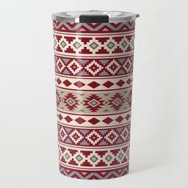 Aztec Essence IIb Ptn Red Crm Grays Sand Travel Mug