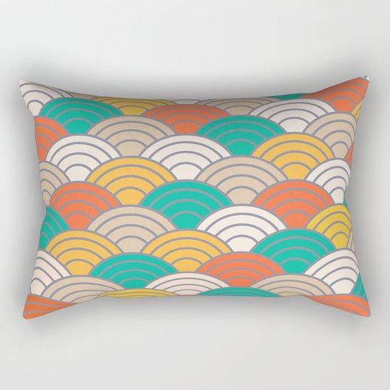 Colorful Circles X Rectangular Pillow