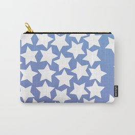 Lots of Black Stars on Gradient Background Carry-All Pouch