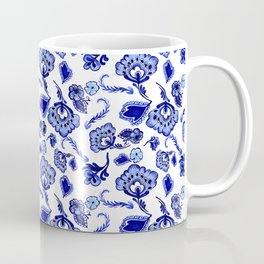 Dutch Blue Delftware Floral Inspired Pattern Coffee Mug