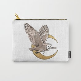 Owl + Lavender Carry-All Pouch