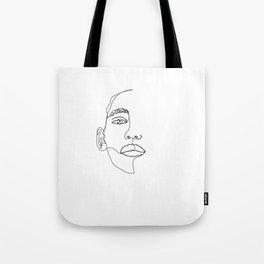 Face one line illustration - Hattie Tote Bag