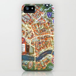 HARVARD University map MASSACHUSETTS iPhone Case