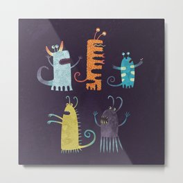 Secretly Vegetarian Monsters Metal Print