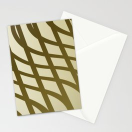 Sepia swing lines Stationery Cards