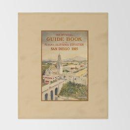 1915 Panama–California Exposition Throw Blanket