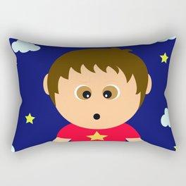 Naughty cute boy illustration art Rectangular Pillow