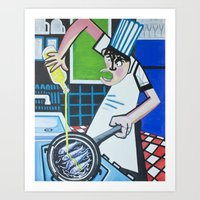 chef Art Prints featuring Chef by CENTELLES
