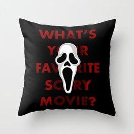 Ghostface Throw Pillow
