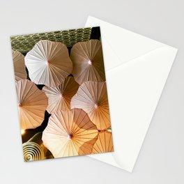 Umbrellas Above Stationery Cards
