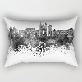 Angers skyline in black watercolor Rectangular Pillow