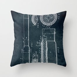 Separation of stages in a staged rocket Throw Pillow