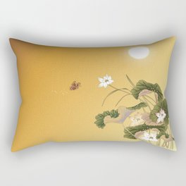 lotus_vector draw Rectangular Pillow