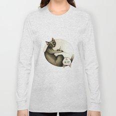 Yin Yang Siamese Cats Long Sleeve T-shirt