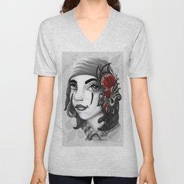 Gypsy lady design Unisex V-Neck