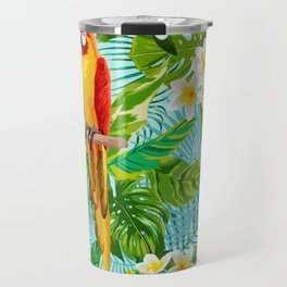 Tropical Parrot Chillin Travel Mug
