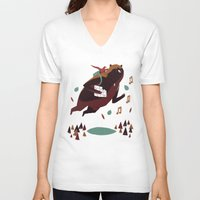 banjo V-neck T-shirts featuring banjo-kazooie by Louis Roskosch