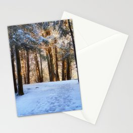 A Winter Morning in the Woods Stationery Cards